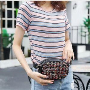 Handbags - Oval Fanny Pack Belt Bag Crossbody